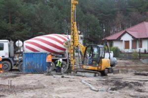 realizacje montaż pali Borówiec